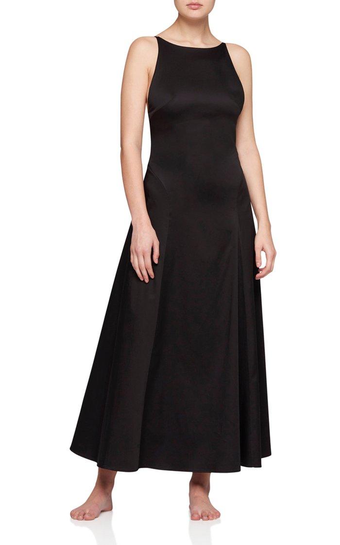 Rouleau Open-Back Cotton Midi Dress