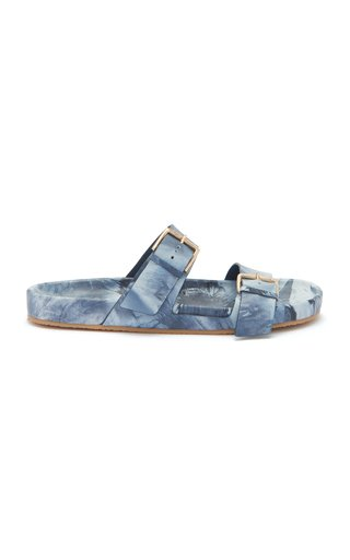 Nova Tie Dye Leather Slides
