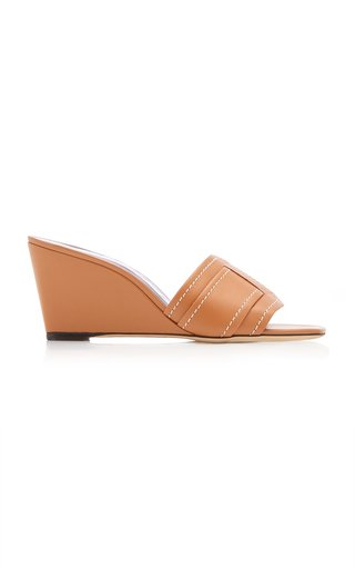 Sylvie Leather Wedge Sandals