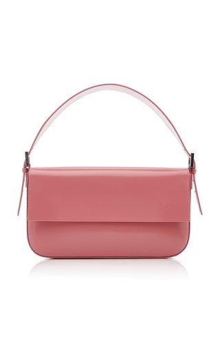 Manu Semi-Patent Leather Shoulder Bag