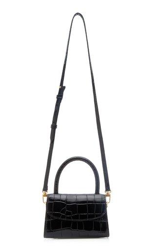Mini Croc-Embossed Leather Shoulder Bag