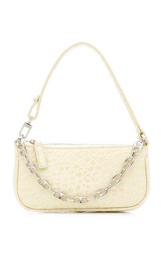 Mini Rachel Croc-Effect Leather Shoulder Bag