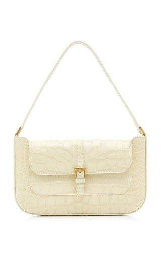 Miranda Croc-Embossed Leather Shoulder Bag