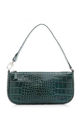 Rachel Croc-Effect Leather Shoulder Bag
