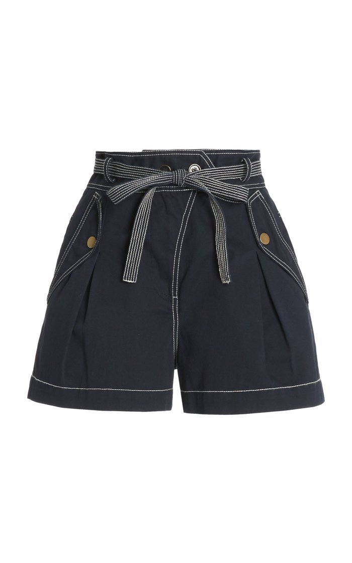 Oscar High-Rise Cotton Shorts