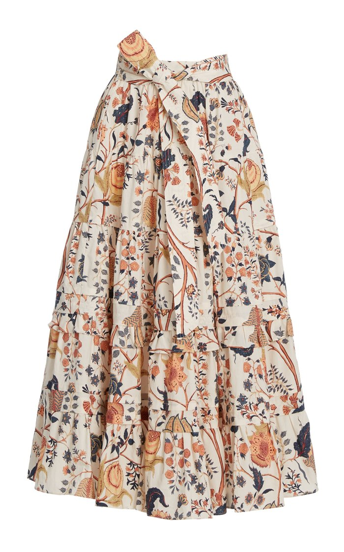 Sigrid Floral Cotton Midi Skirt