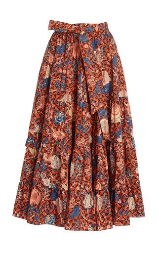 Sigrid Floral Cotton Midi Skirt