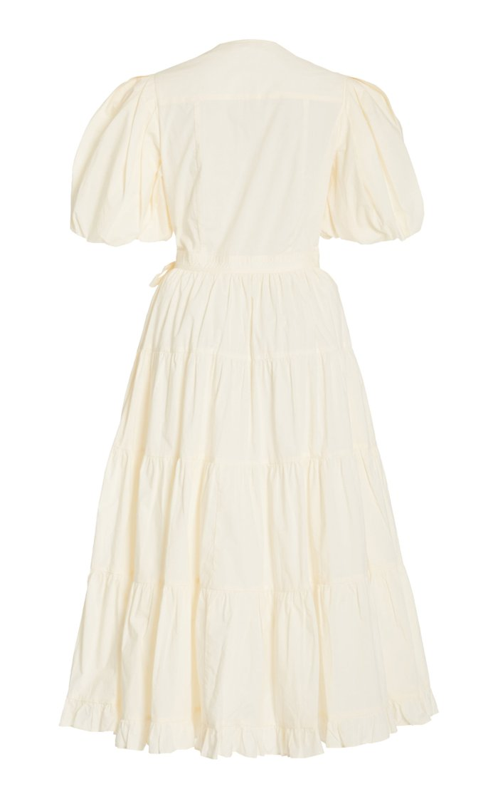 Agathe Tiered Cotton Midi Dress
