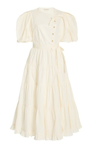 Agathe Tiered Cotton Midi Dress
