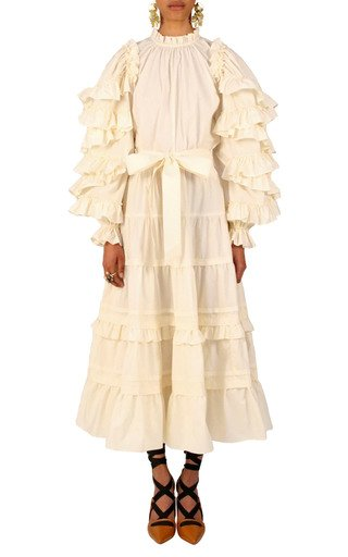 Sigrid Tiered Midi Skirt
