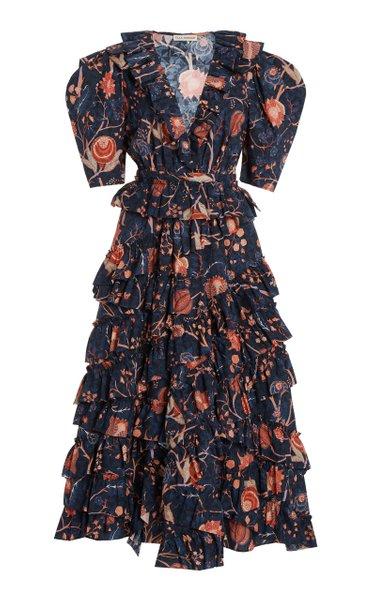 Aurora Ruffled Cotton Dress