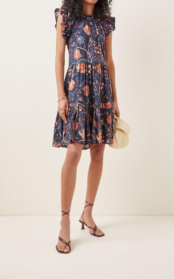 Eden Printed Cotton Mini Dress