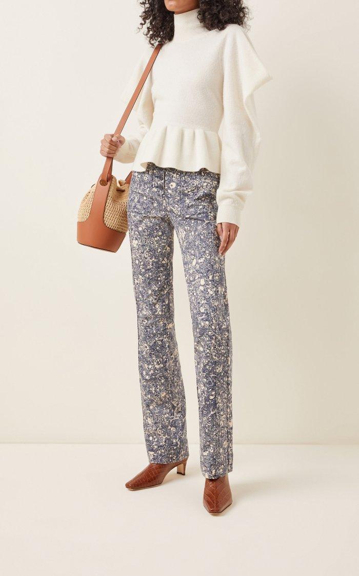 Mars High-Rise Cotton Straight-Leg Jeans