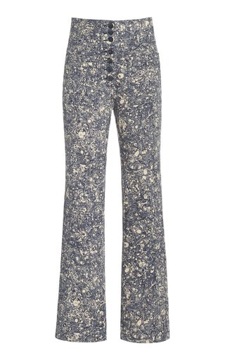 Mars High-Rise Cotton Straight-Leg Jeans