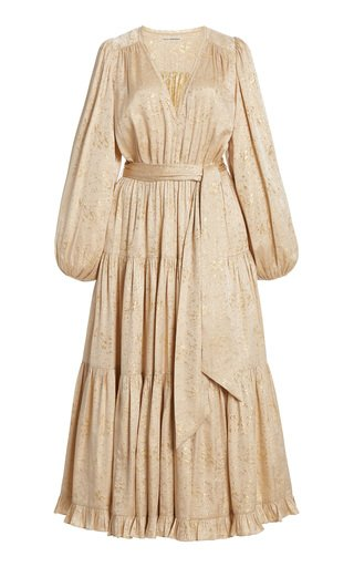 Helena Silk-Lurex Midi Dress