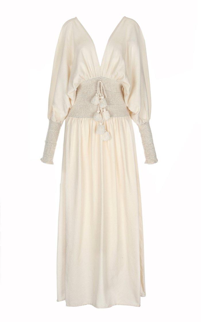 Sanna Handwoven Cotton Maxi Dress