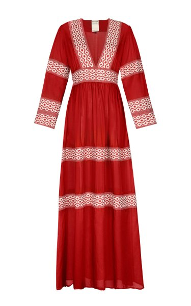 Oli Hand-Embroidered Maxi Dress