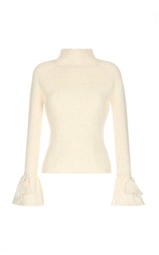 Buju Light Knit Billow Cuff Sweater