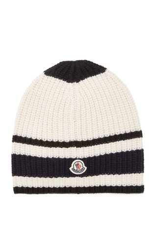 Ribbed-Knit Wool Beanie
