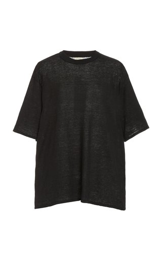 Copain Oversized Knit Linen T-Shirt
