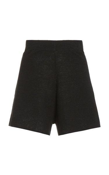 Spencer Knit Linen Shorts