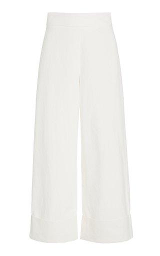 Sade Cotton-Linen Wide Leg Pants