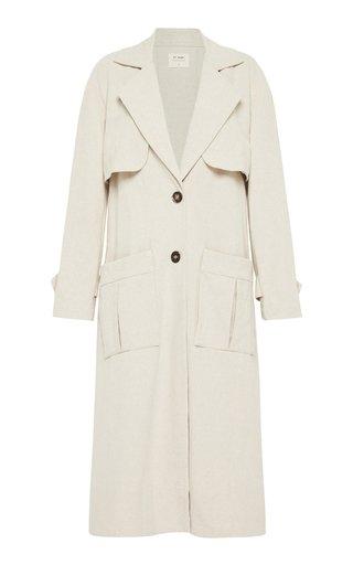 Neda Cotton-Linen Trench Coat