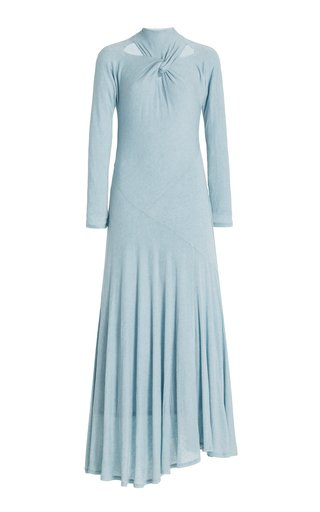 Maia Cutout Twisted Jersey Maxi Dress
