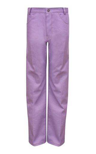 Sawyer Rigid Cotton-Blend Mid-Rise Wide-Leg Jeans