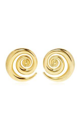 Snail Gold-Plated Earrings