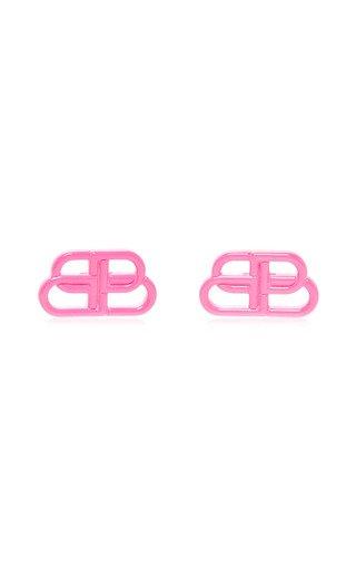 BB Enameled Brass Earrings