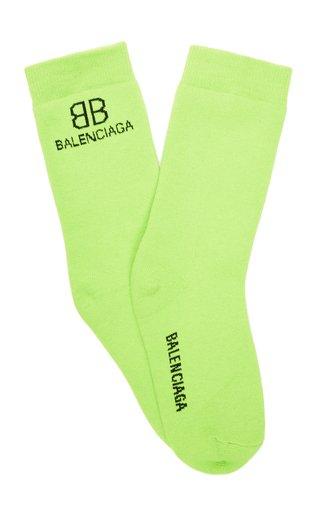 BB Intarsia-Knit Socks
