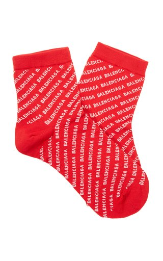 Logo Pattern Cotton Socks