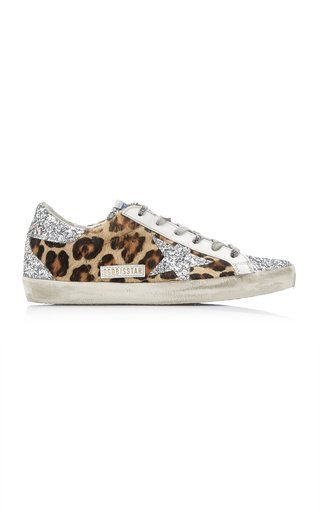 Superstar Glitter Leopard Sneakers