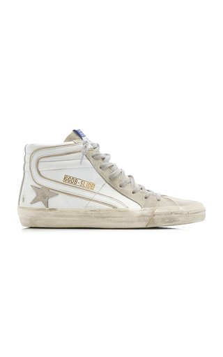 Slide High Top Suede Sneakers