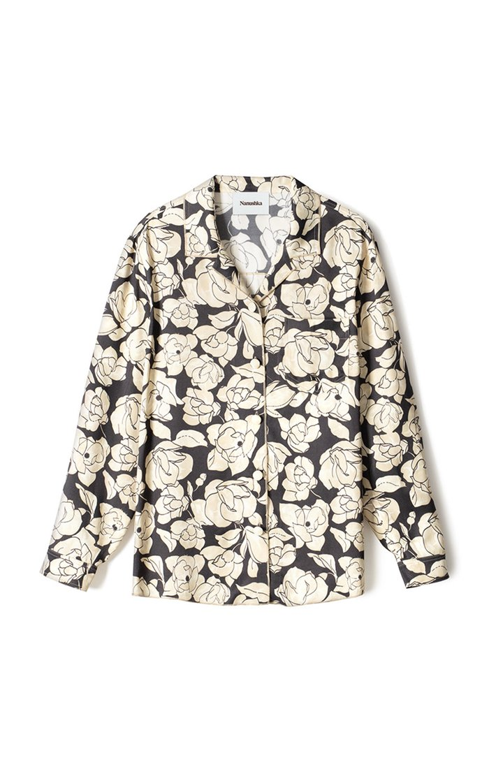 Oona Oversized Floral Satin Shirt
