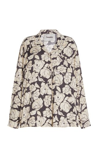 Oona Oversized Floral Satin Shirt