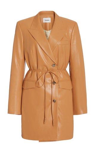 Remi Oversized Vegan Leather Mini Blazer Dress