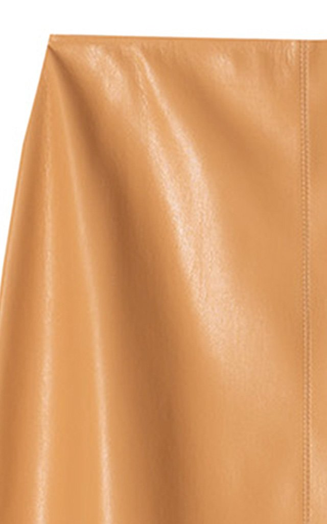 Zayra Vegan Leather Midi Skirt