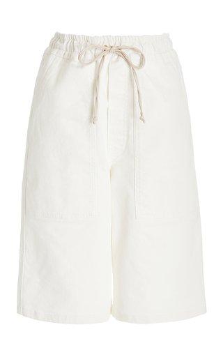 Hadi Drawstring Cotton Knee-Length Shorts