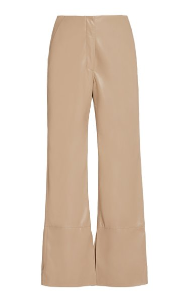 Rhyan Vegan Leather Straight-Leg Pants