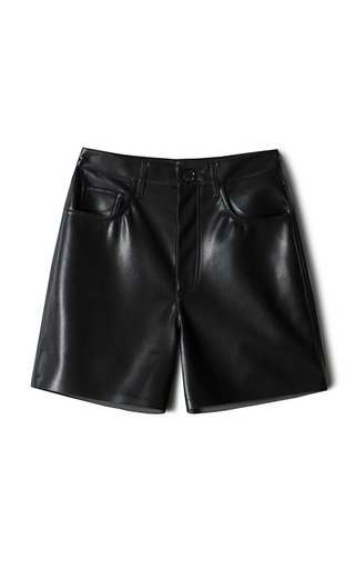 Leana Vegan Leather Shorts