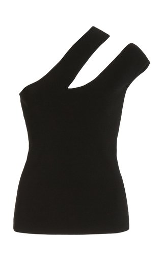 Arlet Cutout Compact Knit One-Shoulder Top