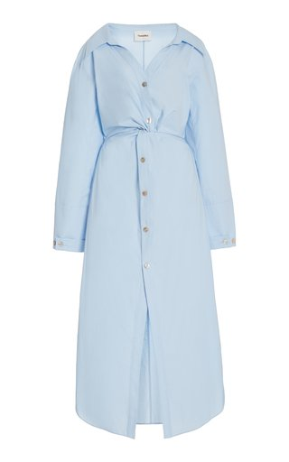 Ayse Twisted Cotton Poplin Shirt Dress