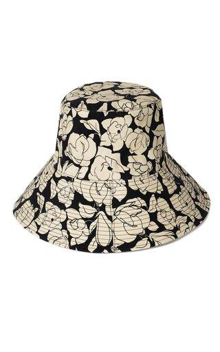 Serge Rose Print Canvas Bucket Hat