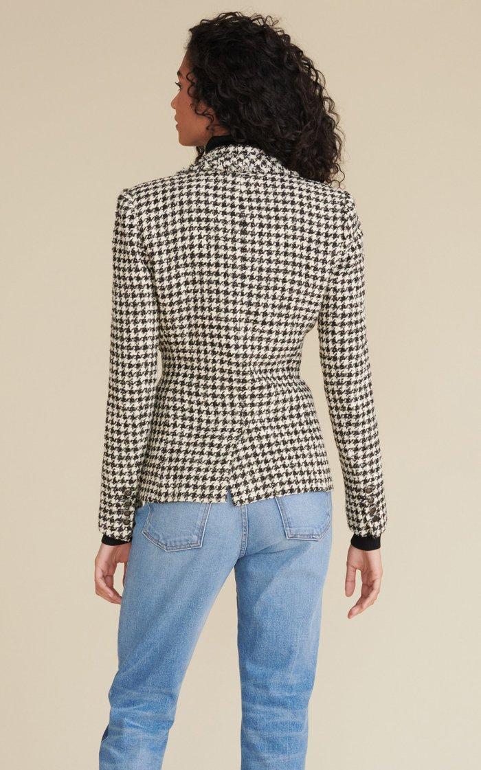 Taja Herringbone Tweed Jacket