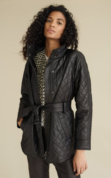 Quilted Bonny Leather Coat