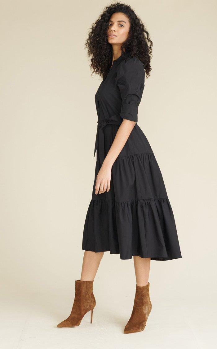 Zeila Cotton Poplin Midi Dress