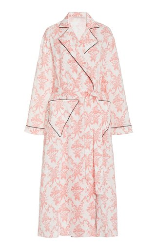 Amana Printed Cotton Dressing Gown