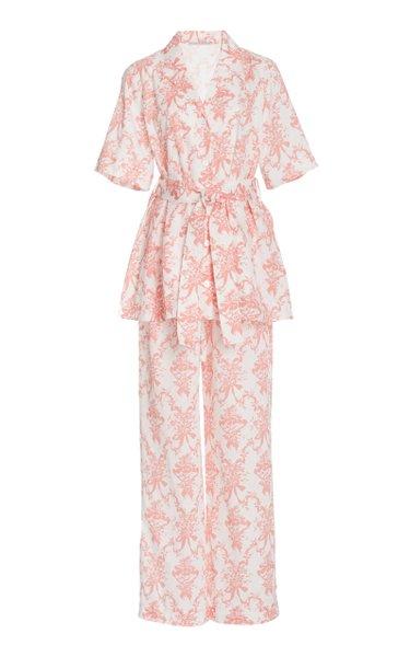 Fifi Printed Cotton Pajama Set